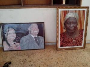 Les potraits du couple Gbagbo et sa celui de la mère