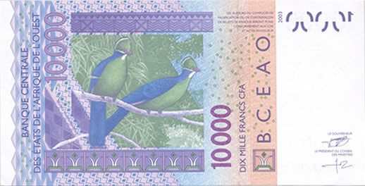 Billet 10.000 F CFA