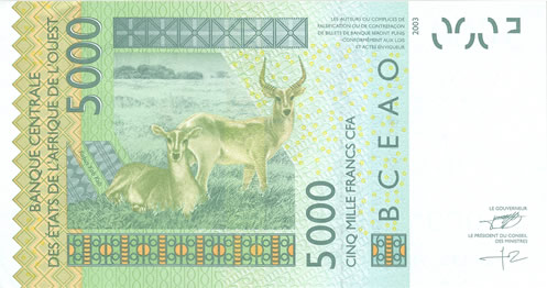 Billet de 5000 F CFA