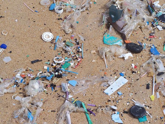 Une surface de la plage sale de Bassam