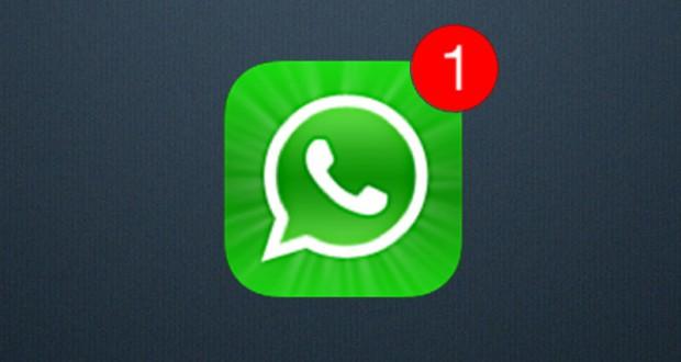 Notificatication d'un nouveau message sur WhatsApp