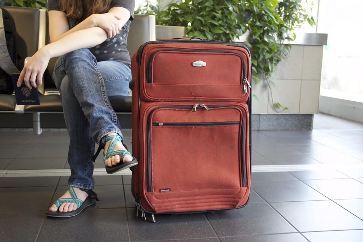 L'europeen voyage avec des bagages raisonnables
