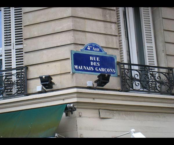 Rue des mauvais garçons à Paris