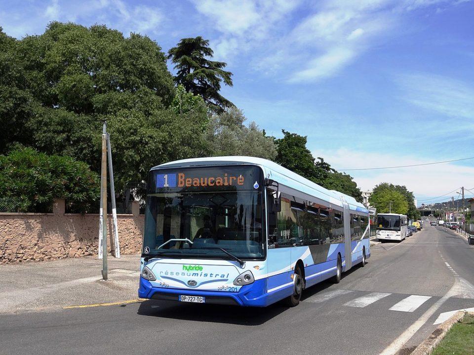 La ligne 1, l'une des lignes de bus toulonnais
